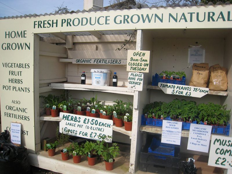 Fresh roduce stall