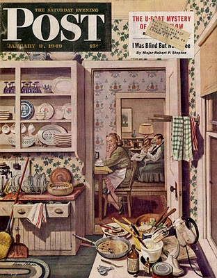 Dreading the dishes jan 8 '49 stevan dohanos
