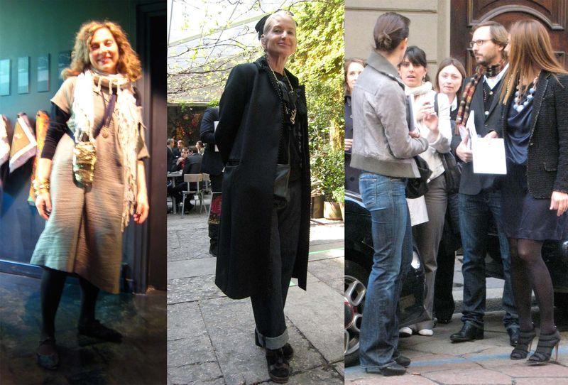 Stylish Italian older women