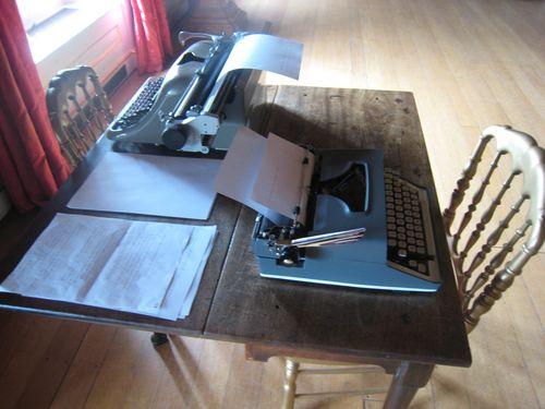 Typewriters at the enchanted palace