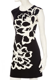 02 wallis black large floral dress