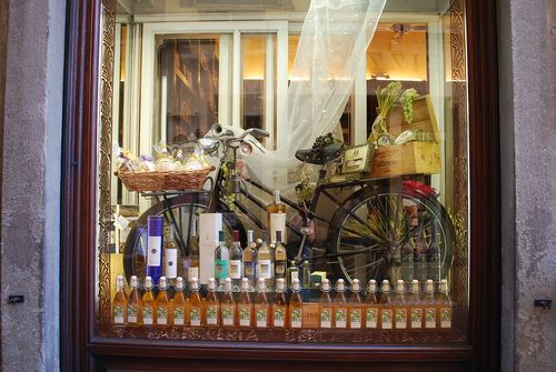 Bike in window