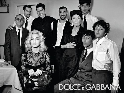 Intro photos 02 Madonna for Dolce & Gabanna