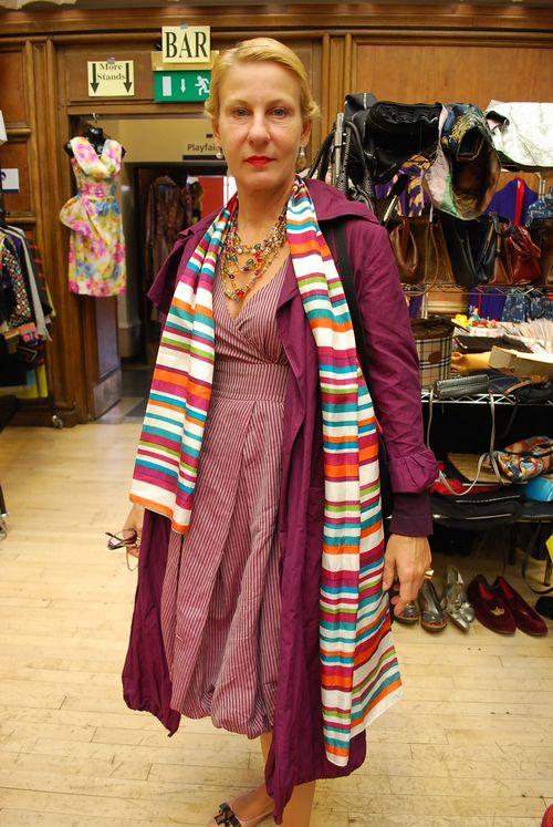 Purple dress lady