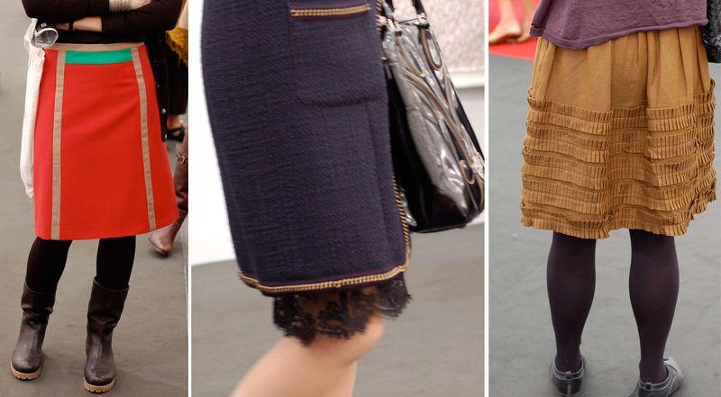 Frieze skirts