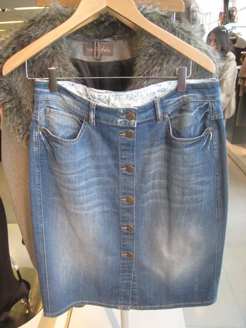 M&s denim skirt aw2010
