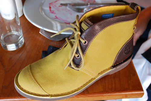 Timberland water on shoe after