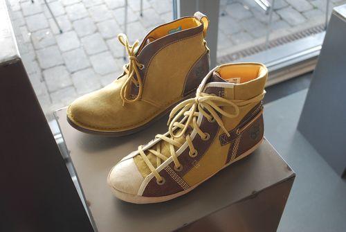Timberland shoe display