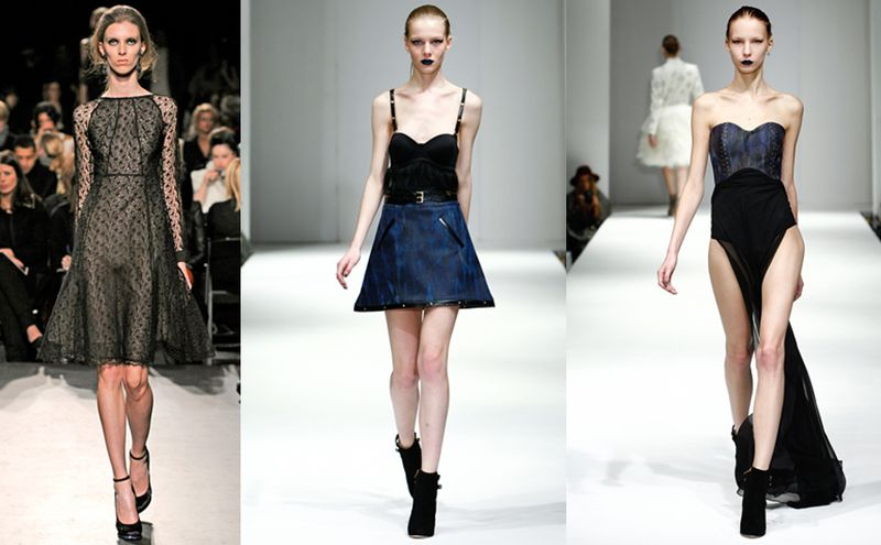 Anorexic looking girls on the catwalks