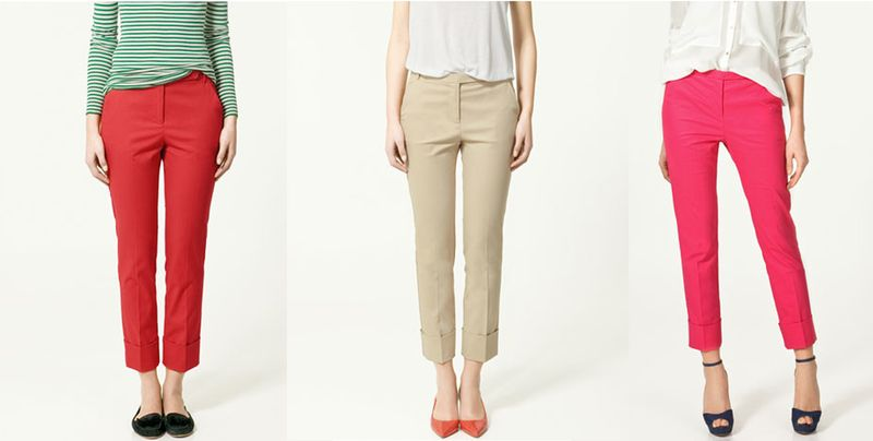 ZARA STRIAIGHT TROUSERS